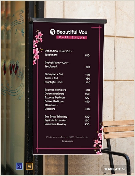 Price Signs Template Free Price List Digital Signage Template Psd