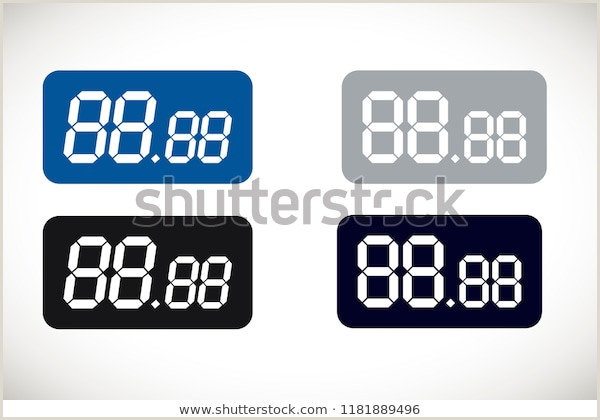Price Signs Template Price Template All Numbers Digital Tag Stock Vector Royalty