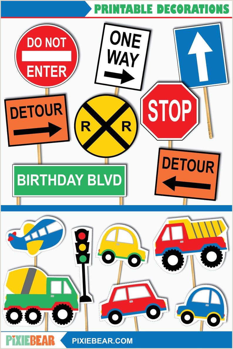 Price Signs Template Transportation Cutouts Printable Transportation Birthday
