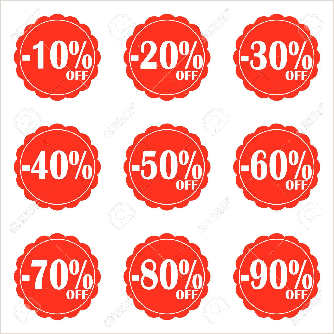 Price Signs Template Vector Sale Icon Set Discount Price Off And Sales Design Template