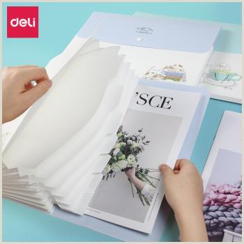 Print Business Card Online Deli Organ Pack Multilayer Folder 8 Case Test Paper Information Kit Classification Documents Bags Stationery