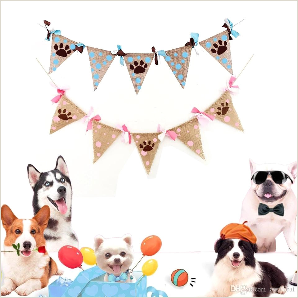 Print Roll Up Banner 2020 Dog Paw Dot Pennant Banner Bunting Garland Banner