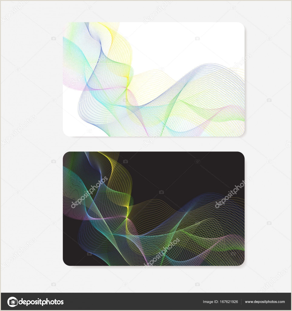 Print Unique Discount Codes On Business Cards Business Card Gift Card Coupon Discount Voucher With Guilloche Pattern Colorful Lines Watermark Texture Vector Black Background For Check