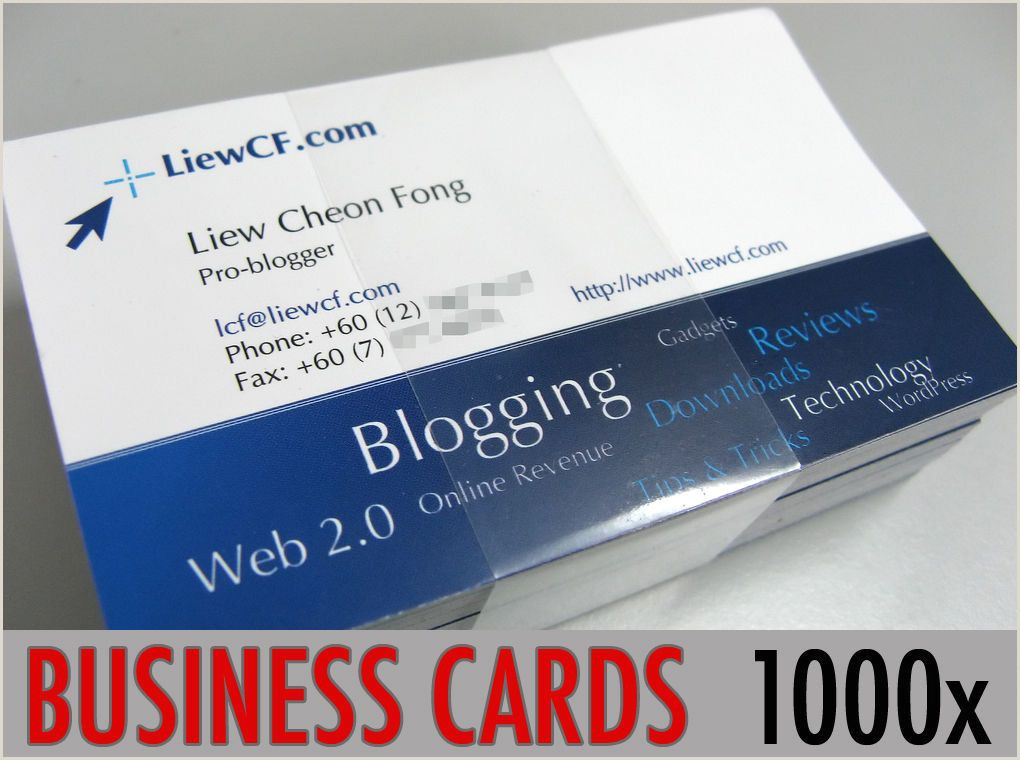 Print Visiting Cards Business Fice & Industrial Supplies 1000 Full Colour