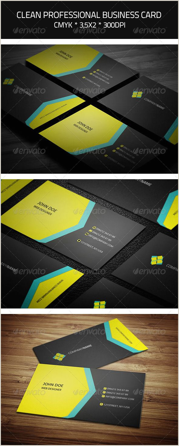 Printing Business Card Clean Professional Business Card