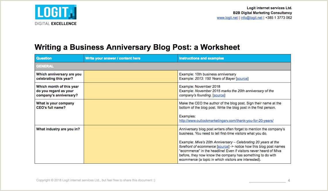 Product Line Card Template Word Pany Anniversary Blog Post Download Template For Writing