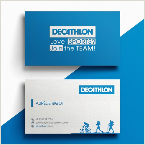 Professional Business Card Examples Design A Smart And Simple Visit Card For A Sporting Goods