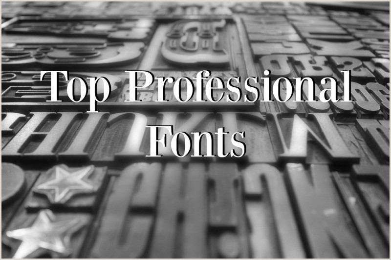 Professional Business Card Font Top Professional Fonts