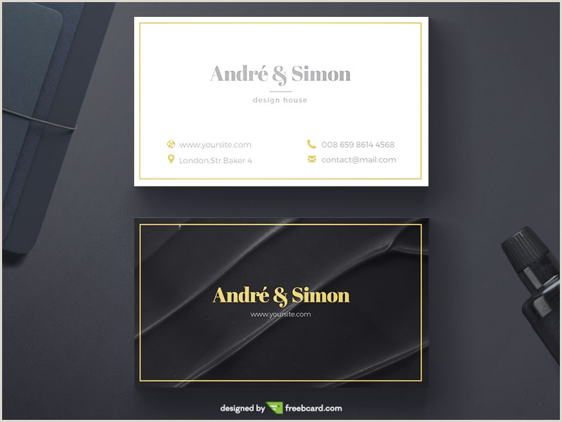 Professional Business Cards Design 20 Professional Business Card Design Templates For Free