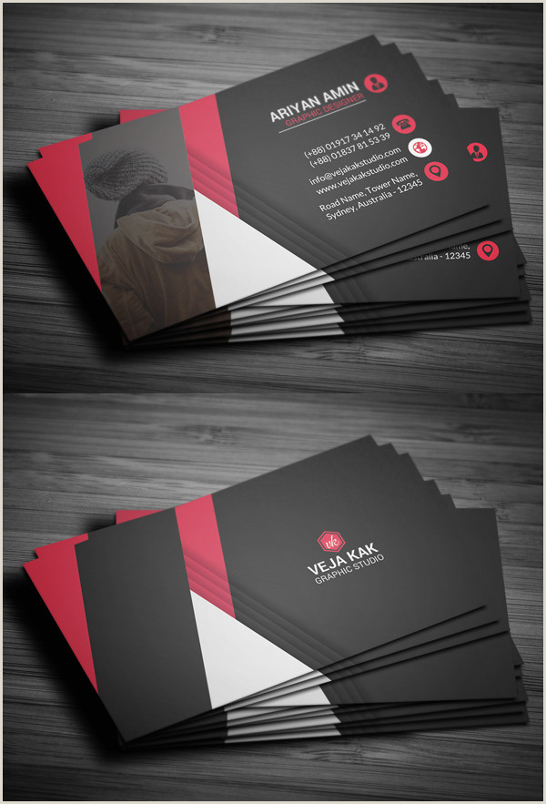 Professional Bussiness Cards 80 Best Of 2017 Business Card Designs Design
