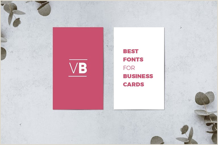 Professional Fonts For Business Cards 30 Best Fonts For Business Cards