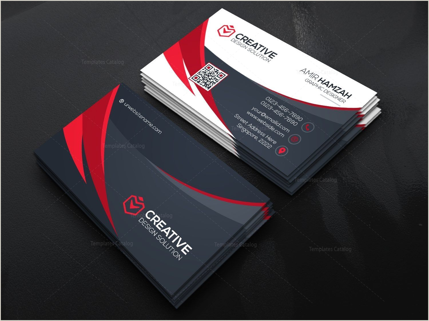 Professional Looking Business Cards Stylish Psd Business Card Templates Graphic Templates In