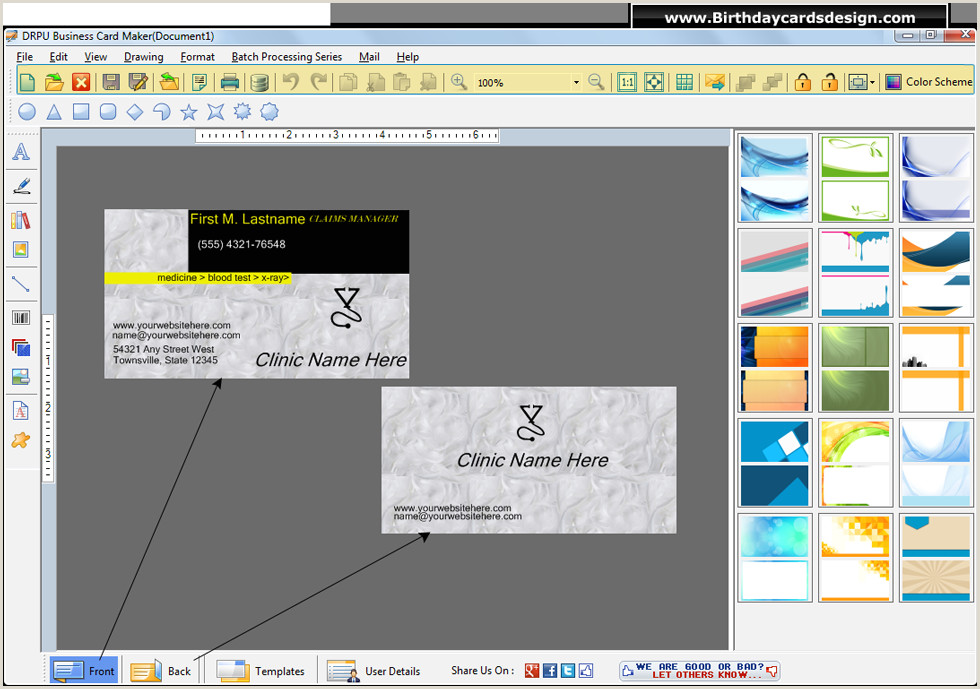 Program To Design Business Cards Business Cards Design Software Generates Custom Cards For