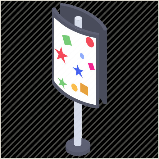 Promo Banner Stands Advertising Stand Promo Stand Banner Stand Advertising Brand Promotion Stand Icon