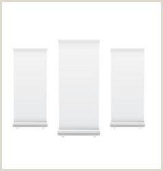 Pull Out Banners Blank Pull Up Banner Vector 82
