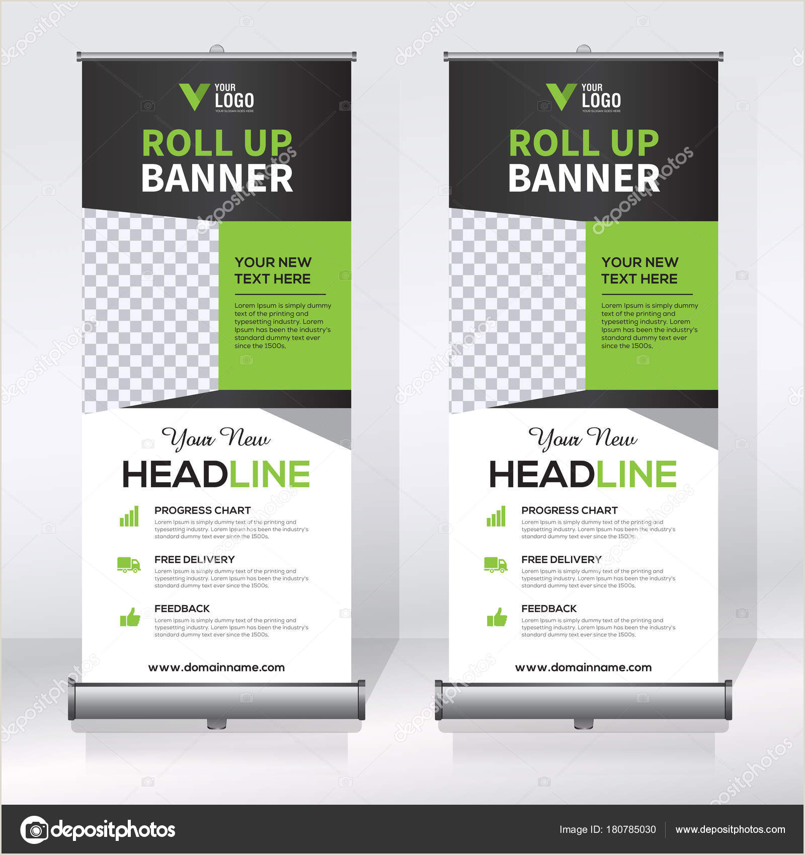 Pull Out Banners Roll Up Banner Pull Up Banner X Banner Modern Vertical New Vector Design Template