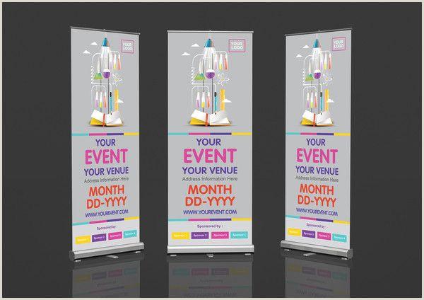 Pull Up Banner Dimensions Template Muat Turun Informational Poster Design Yang Berguna Dan