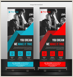 Pull Up Banner Dimensions Template Pull Up Banner Templates Vector Over 820