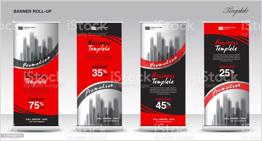 Pull Up Banner Roll Up Banner Stand Template Design Promotion Banner Template Xbanner Pull Up Advertisement Creative Concept Presentation Red And Black Background