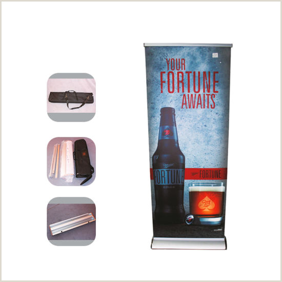 Pull Up Banner Stands Mid Range Roll Up Banner Stand Pull Up Banner Deluxe Wide Base Single Screen Roll Up Banner Stands