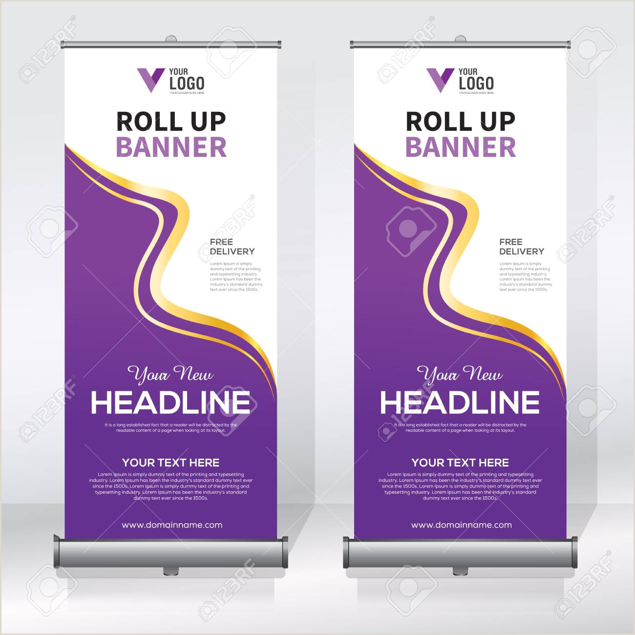 Pull Up Banners Dimensions Roll Up Banner Design Template Abstract Background Pull Up