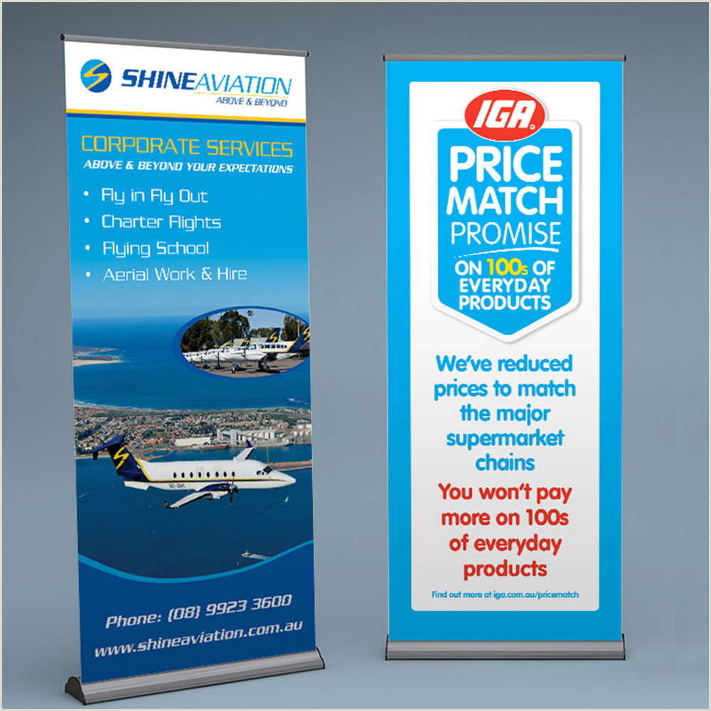 Pull Up Banners Dimensions Standard Pull Up Banners