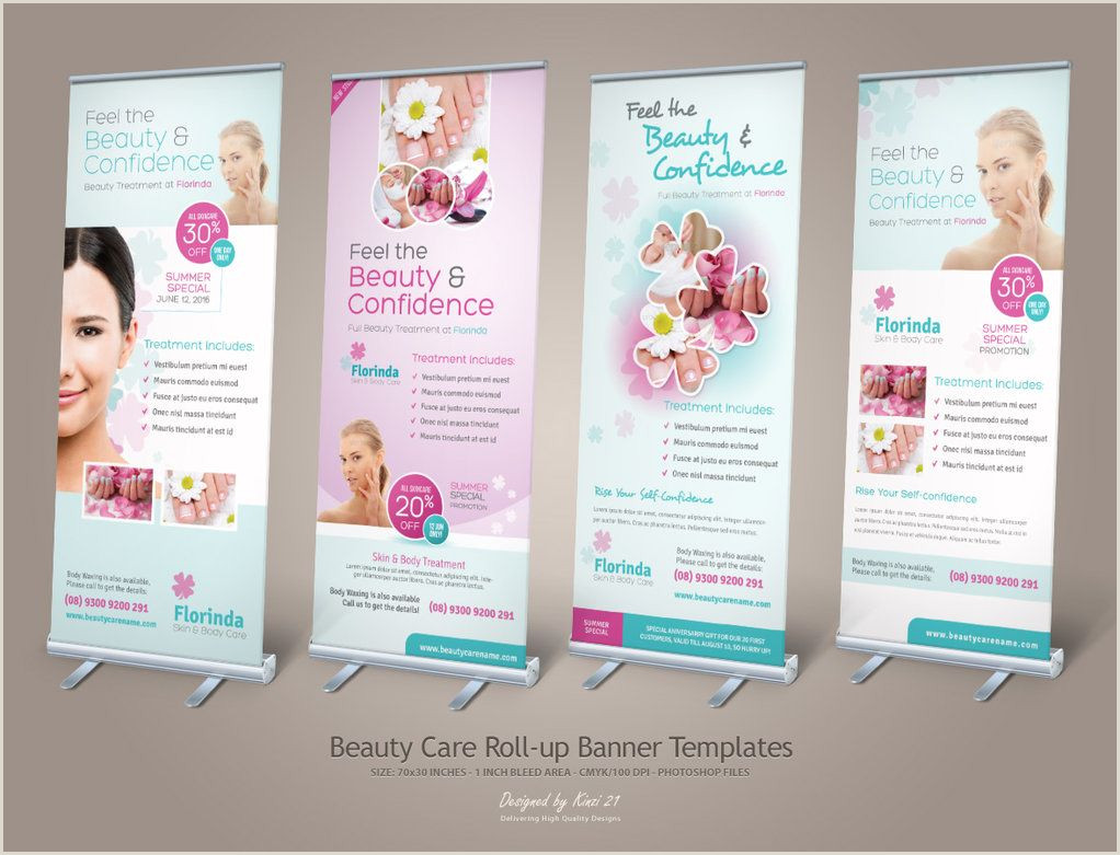 Pull Up Design Beauty Care Roll Up Banners By Kinzi D6wkkxt 1022—781