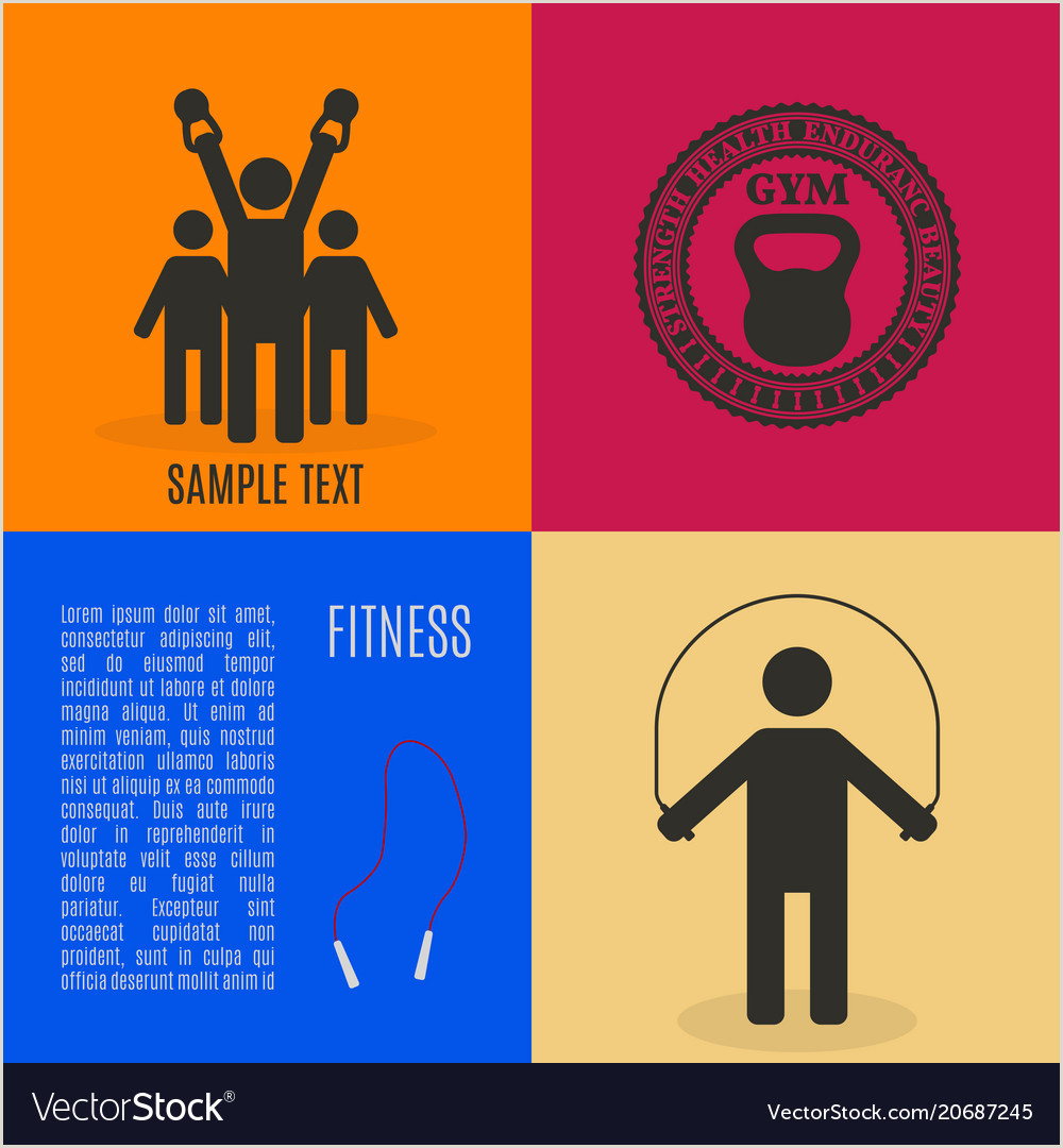 Pull Up Design Flat Design Elements For Gym And Fitness Vector Image