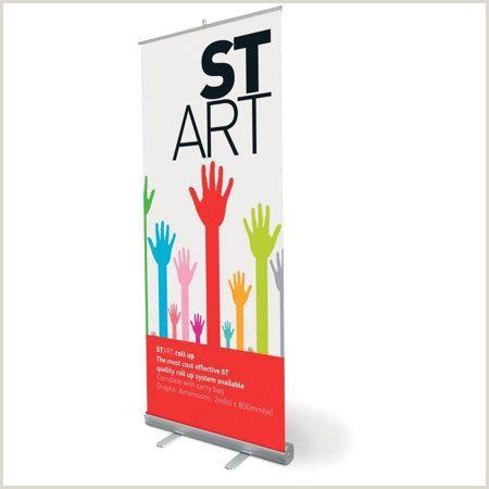Pull Up Design Retractable 33 Inchx79 Inch Roll Up Banner Stand Trade Show
