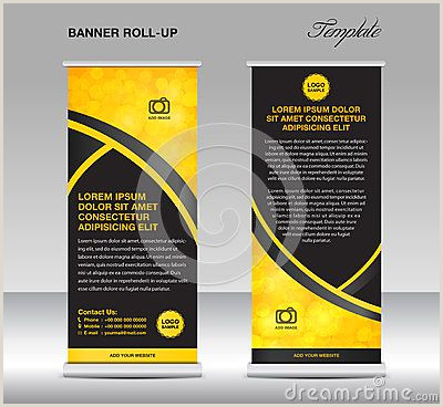 Pull Up Design Yellow And Black Banner Stand Template Stand Design Banner