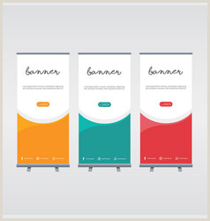Pull Up Display Banner Pull Up Banner Vector Over 870