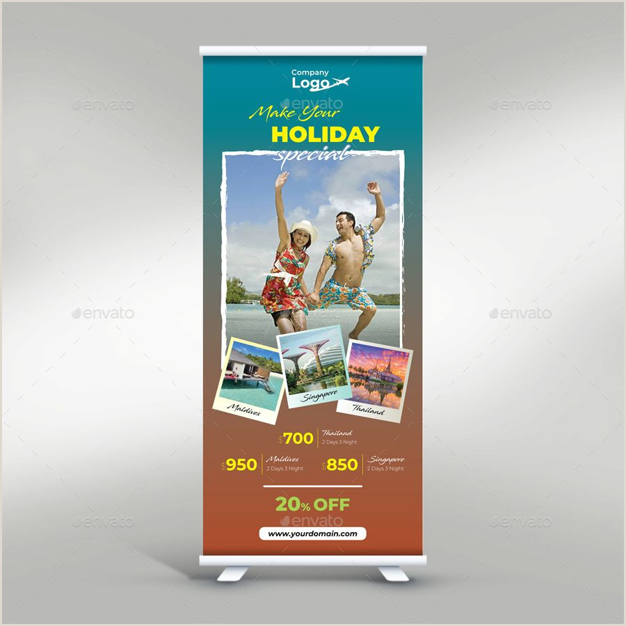 Pull Up Display Banner Travel Roll Up Banner