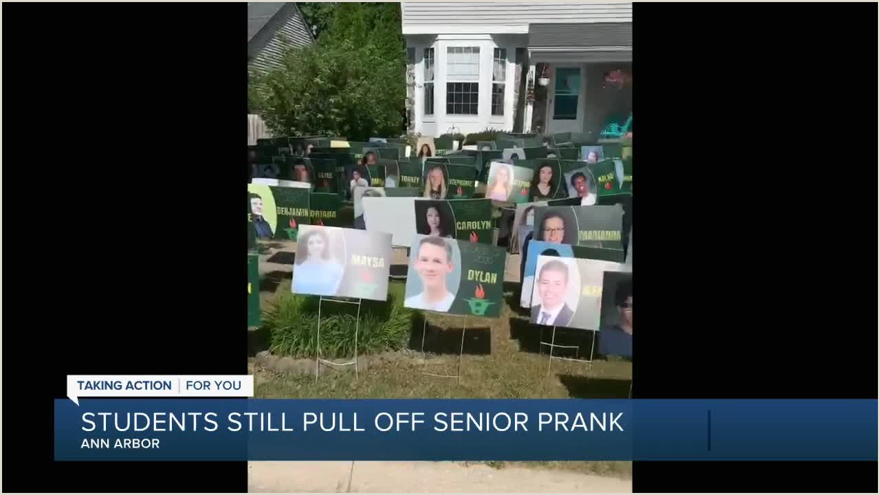 Pull Up Poster Ann Arbor Seniors Pull Final Prank On The Assistant Principal