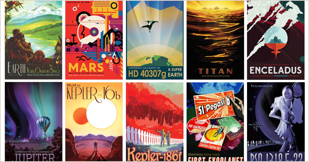Pull Up Poster Jpl Invites You To Explore 13 Alien Worlds And Earth Los