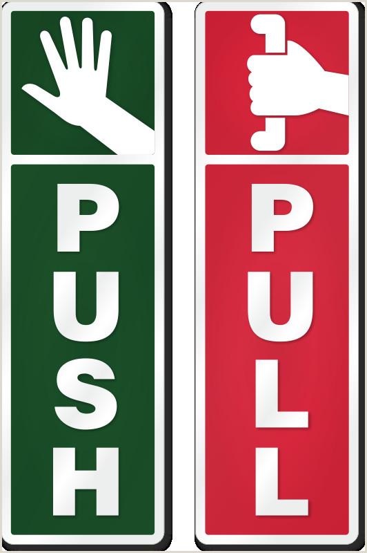 "Pull Up Signage 1 5"" X 5"" Diamondplate™ Anodized Door Signs 1 5"" X 5"" Diamondplate™ Anodized Aluminum Door Signs"