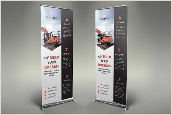 Pull Up Signage Construction Roll Up Banner