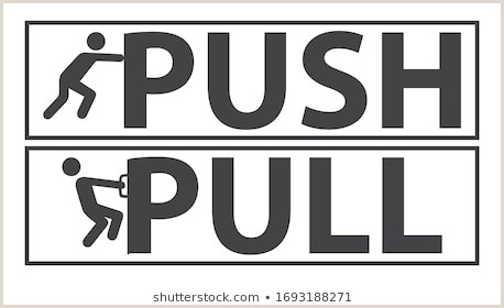 Pull Up Signage Door Sign Push Pull Stock S & Vectors