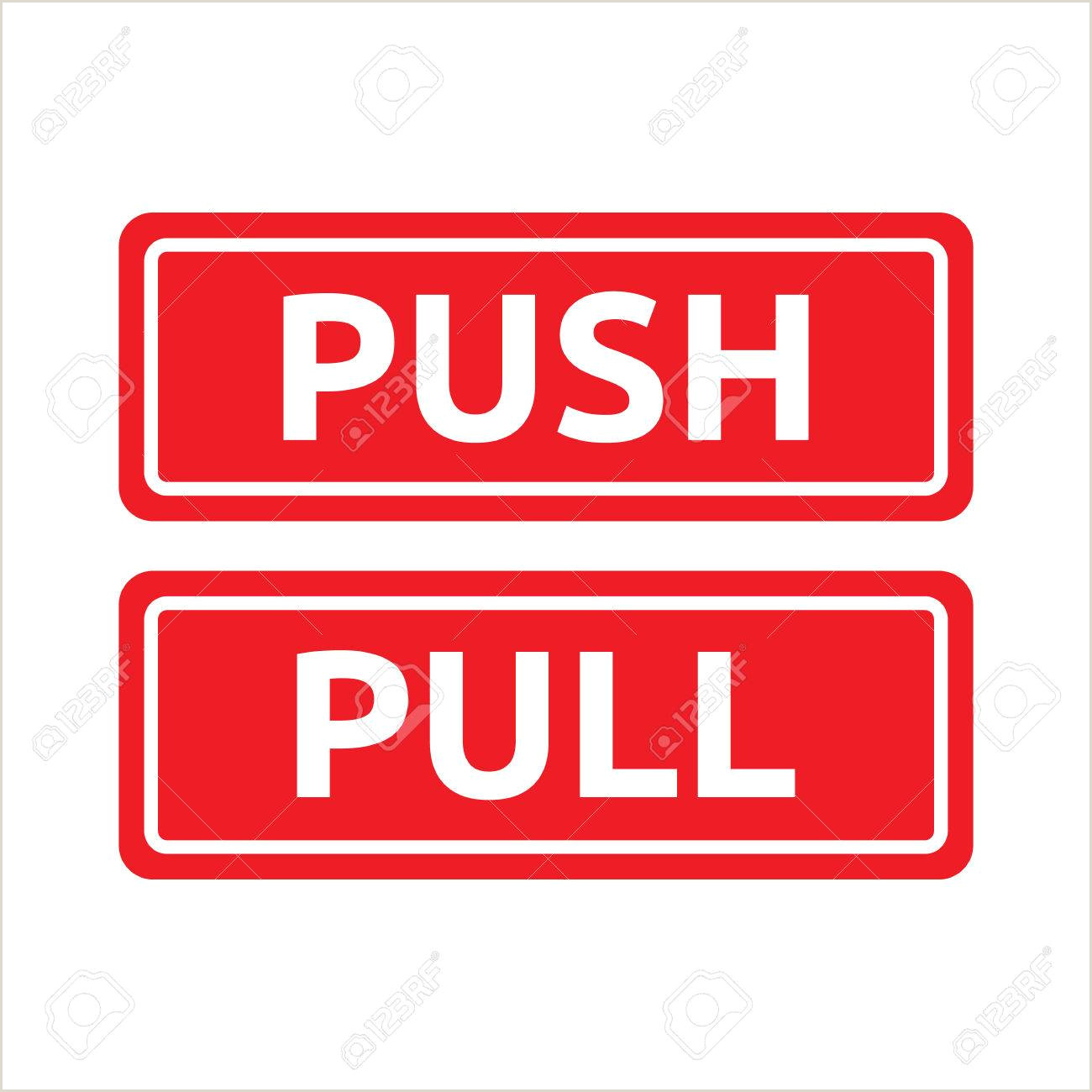 Pull Up Signage Push Pull Red Tag Signs