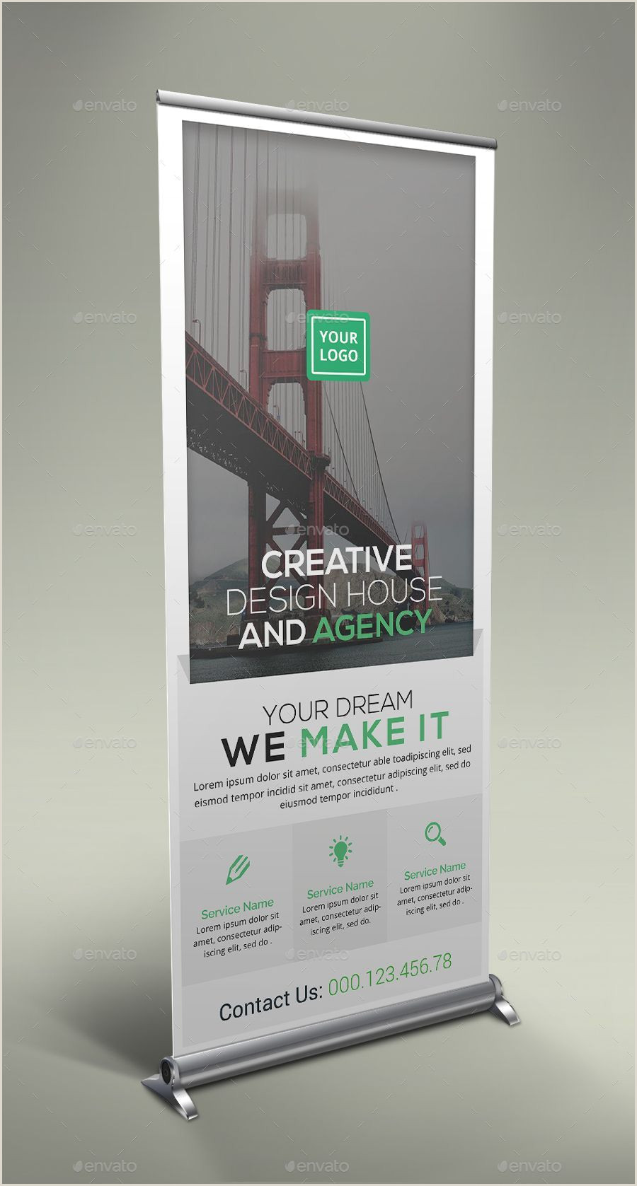 Pull Up Signage Unternehmens Roll Up Banner Bundle Roll Corporate