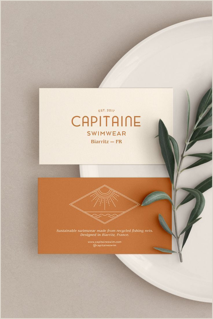 Purpose Of Business Card Business Card Design For Capitaine Swimwear A Sustainable