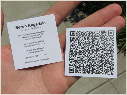 Qr Code Business Card With A Twist 34 Examples Of Business Card Designs With Qr Code