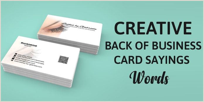 Quotes To Put On Business Cards Creative Back Of Business Card Sayings – Best Words In 2020