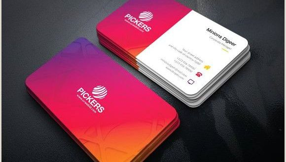 Real Business Cards Modern Business Card