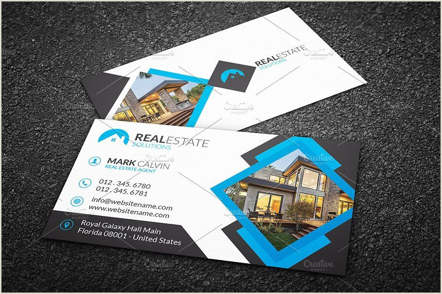 Real Business Cards Real Estate Business Card 42 Business Estate Real Templates