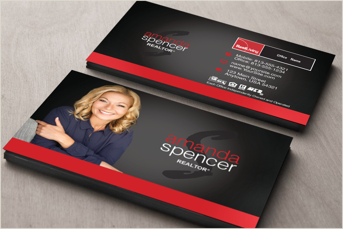 Real Estate Business Card Examples Real Living Business Cards Are Here Realtor Realliving