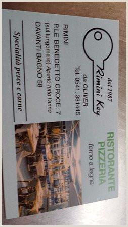 Really Nice Business Cards Business Card Picture Of Ristorante Rimini Key Tripadvisor