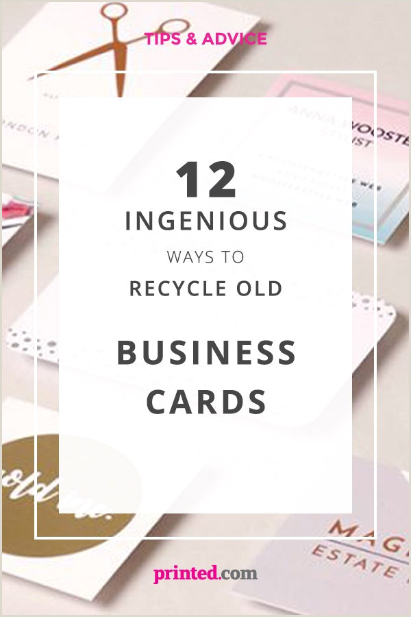 Recycle Old Business Cards Diy 12 Ingenious Ways To Recycle Old Business Cards