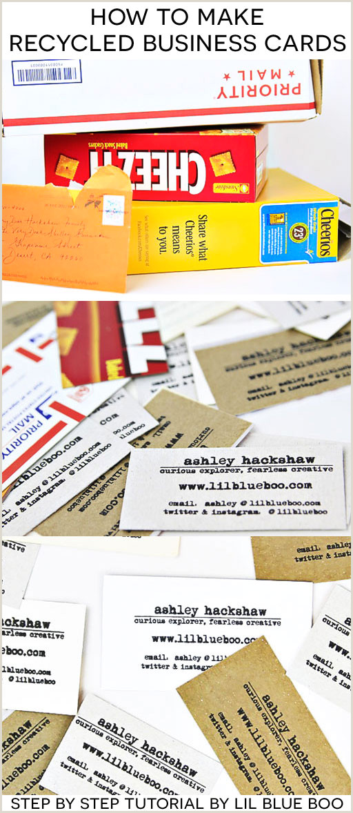 Recycle Old Business Cards Diy How To Make Diy Recycled Business Cards