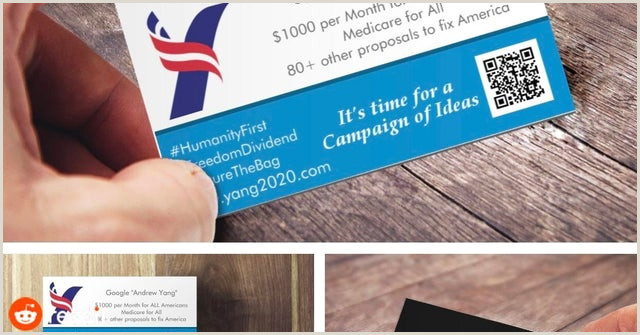 Reddit Best Business Cards 2020 Best Locations To Place Yang 2020 Business Cards
