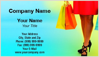 Retail Business Cards Retail Store Business Cards